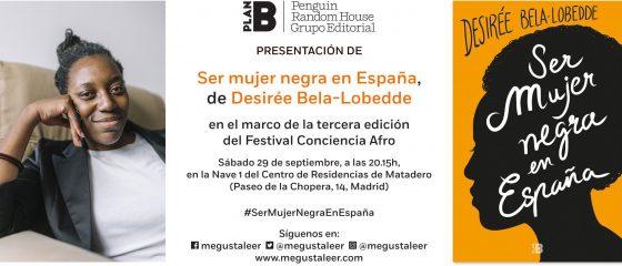 Invitación a la presentación del libro Ser mujer negra en España.
