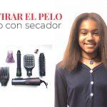 Cómo estirar el pelo afro con secador
